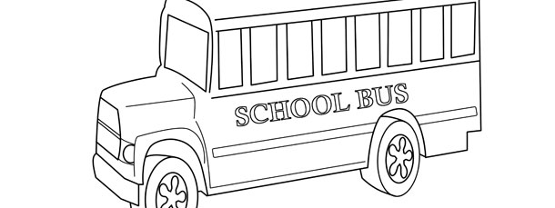 school bus template large