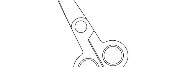school scissors template large