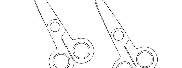 school scissors template medium