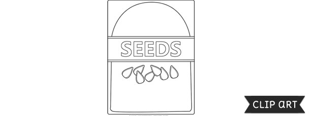 seed packet template clipart. Black Bedroom Furniture Sets. Home Design Ideas