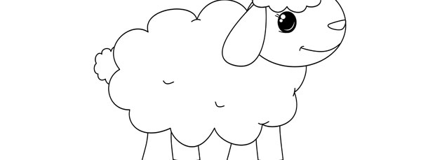 Sheep template large for Lamb cut out template