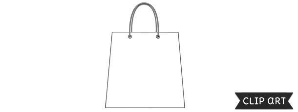 Shopping Bag Template – Clipart