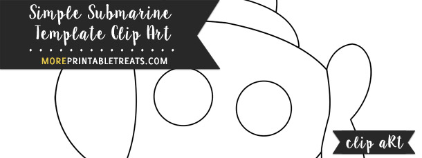 Simple Submarine Template Clipart