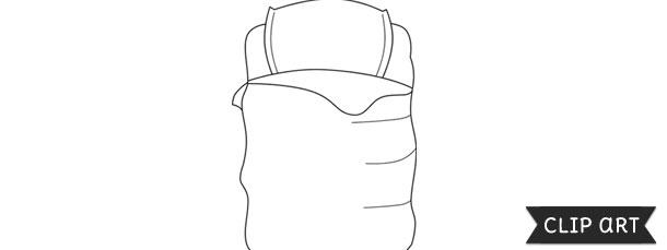 Sleeping Bag Template Clipart