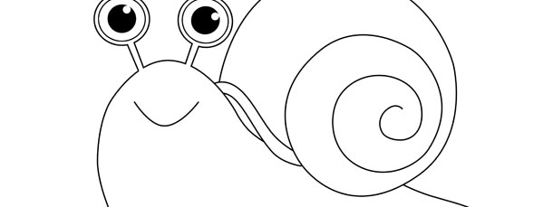 snail template large