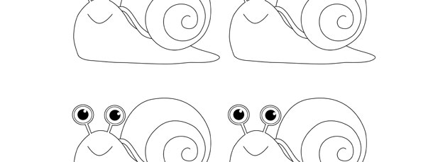 snail template small