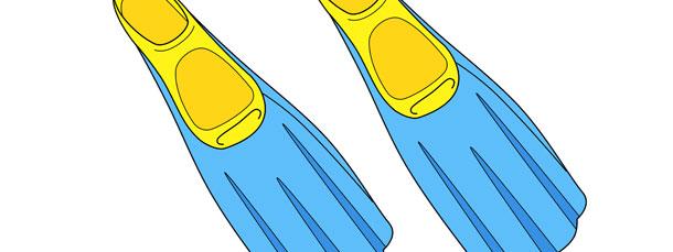 Snorkeling Fin Cut Out – Medium
