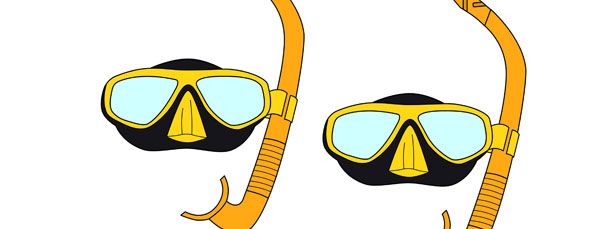 Snorkeling Mask Cut Out – Medium