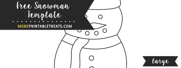 Snowman Template – Large