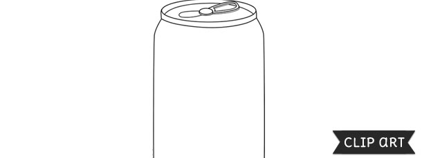soda can template clipart