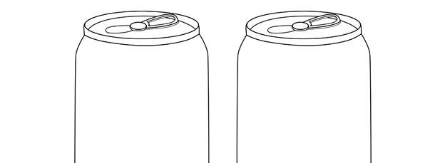 soda can template medium