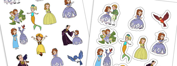 Sofia the First Printable Stickers