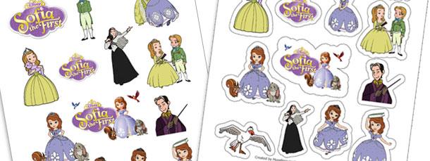 Sofia the First Sticker Sheet