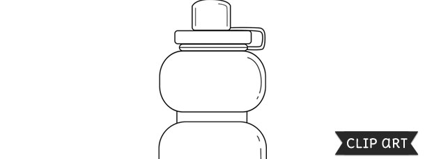 Sports Water Bottle Template Clipart