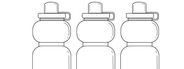 sports water bottle template medium