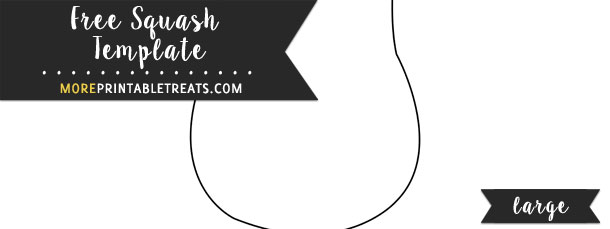 Squash template coloring pages ~ Squash Template – Large