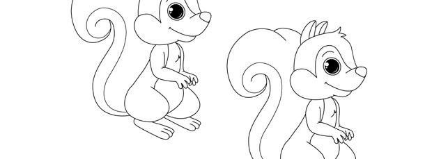 Squirrel Template – Medium