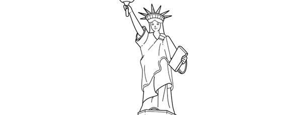 statue of liberty template large