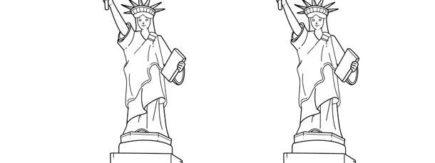 statue of liberty template medium