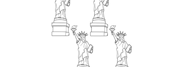 photograph regarding Printable Statue of Liberty Template known as 100+ Statue Of Freedom Coloring Sheet Of Printable yasminroohi
