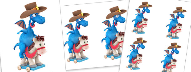 Stuffy McStuffins Riding Horse Cut Outs