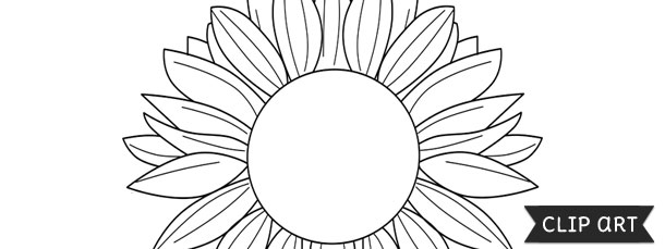 picture regarding Sunflower Template Printable identified as Sunflower Template Clipart