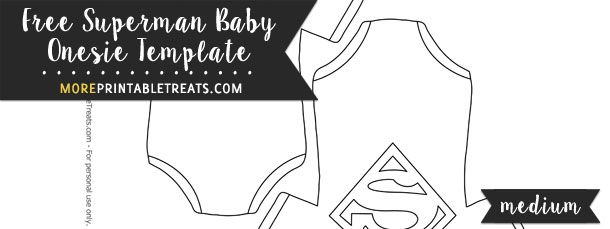 Superman Baby Onesie Template  Medium