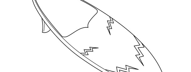 Surfboard Template – Large