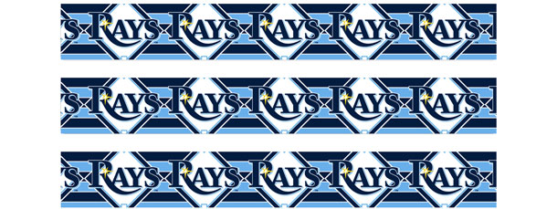 Tampa Bay Rays Logo Water Bottle Labels