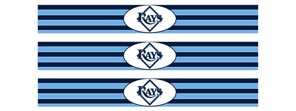 Tampa Bay Rays Water Bottle Labels
