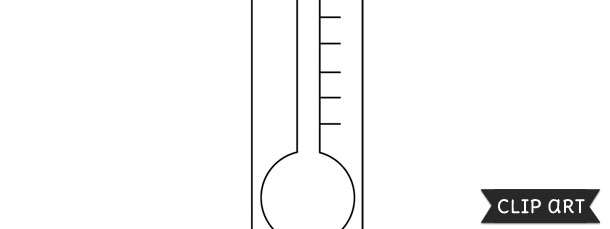 Thermometer Template  Clipart