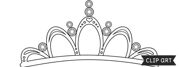 tiara template printable free - tiara template clipart