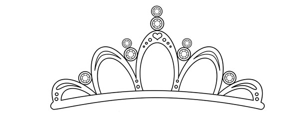 Tiara template large for Tiara template printable free