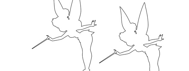 tinkerbell silhouette template medium
