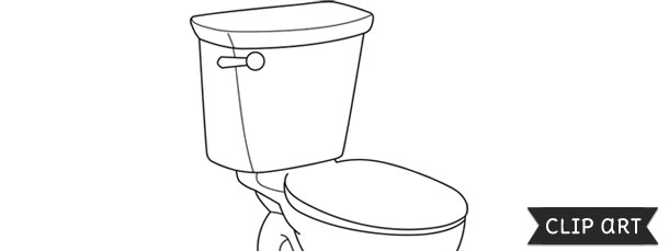 toilet template clipart