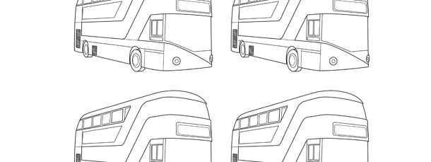 tour bus template small