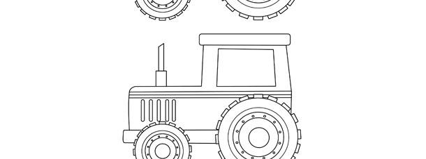 tractor template medium