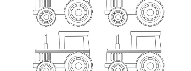 Tractor template small for Tractor template to print