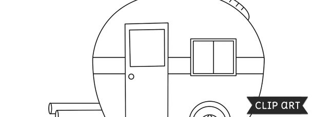 trailer camper template clipart