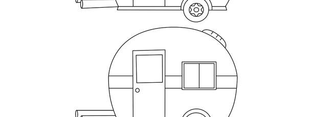 trailer camper template medium