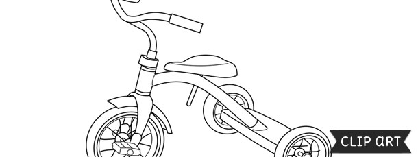 Tricycle Template Clipart
