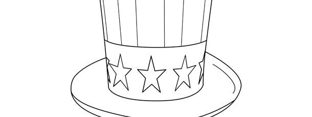 uncle sam patriotic hat template large
