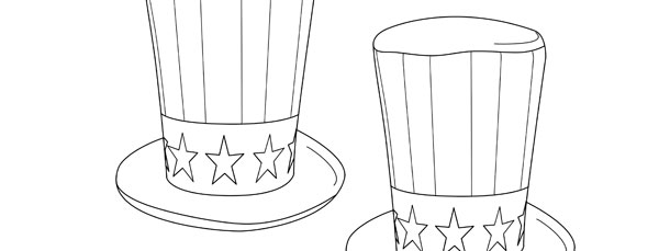 uncle sam patriotic hat template medium