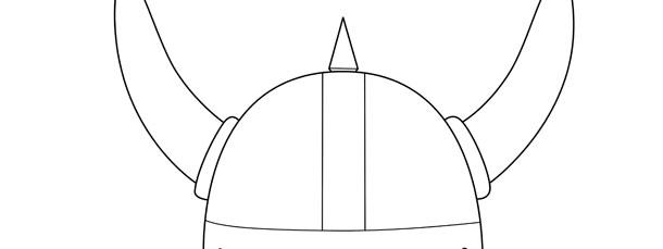 viking helmet template large