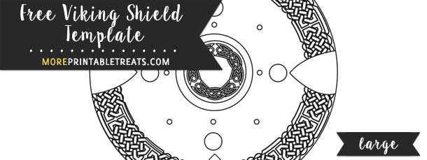 Viking Shield Template – Large