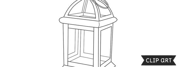 Vintage Lantern Template – Clipart