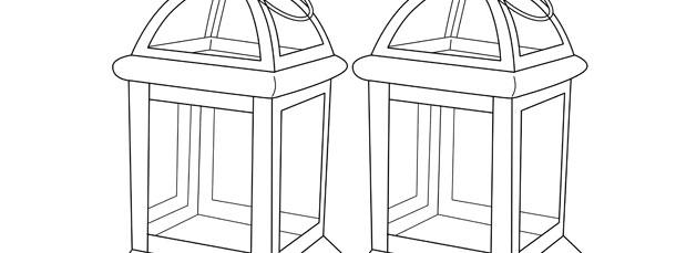 Vintage Lantern Template – Medium