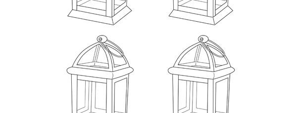 Vintage Lantern Template – Small