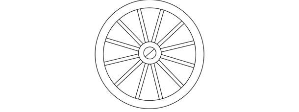 Wagon Wheel Template – Large