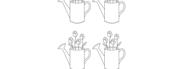 watering can with flowers inside template small